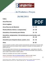 Lista de Produtos Importação RD Arqueria-v3