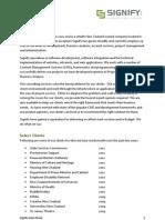 Signify Data Sheet
