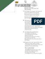 Ehs Song Sheet 14 Aug 05