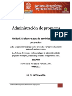 Unidad 3 Software para la administración de proyectos