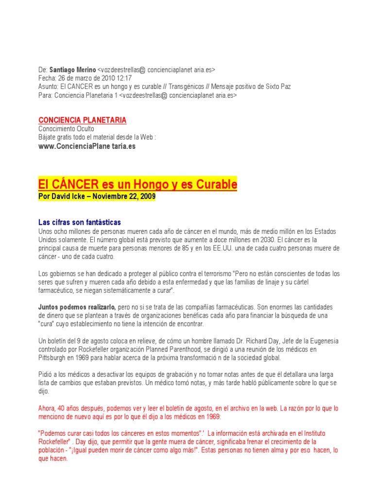 El Cancer Es Un Hongo