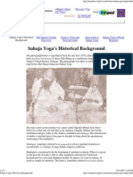 Sahaja Yoga's Historical Background