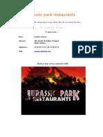business plan jurassic park restaurants nouveau