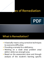 Principles of Remediation