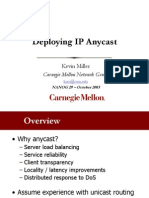 Deploying IP Anycast