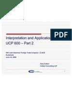 UCP 600 Handling of LCs