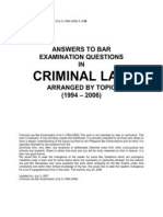 Criminal Law Bar Examination Q