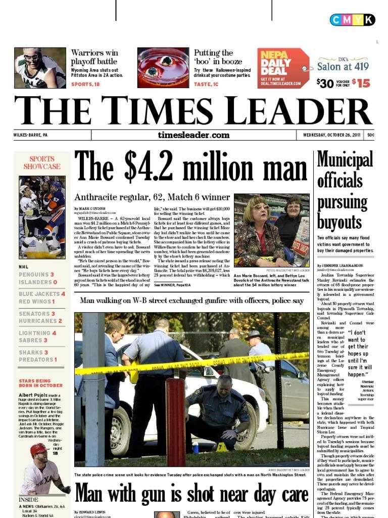 71f1097cd67d8 Times Leader 10-26-2011 | Wilkes Barre | Lawsuit