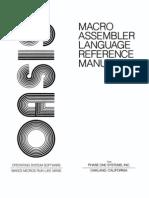 Macro Assembler Reference Manual Mar80