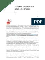 CSIF Torrelodones ; Las Plazas Vacantes Cubiertas Por Interinos Deben Ser Ofertadas