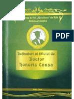 Deţinători ai titlului Doctor Honoris Causa