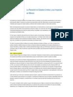 La Recesión en Estados Unidos y sus Impactos en México