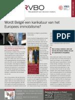 Wordt België een karikatuur van het Europees immobilisme?, Infor VBO 33, 27 oktober 2011