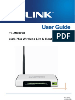 TL-MR3220 User Guide