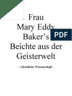 Mary Baker Eddy's Beichte aus der Geisterwelt - ChristlicheWissenschaft