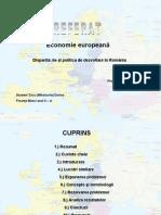 Disparitati La Nivel Regional in Romania