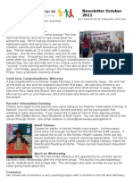 October Newsletter 2011