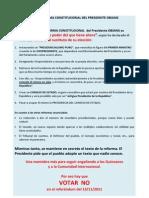 Vota No a La Reforma Constitucional