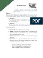 Derecho Civil El Domicilio