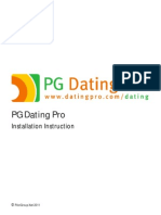 PG Dating Pro software - Installation Instructions
