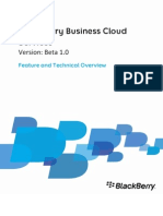 Blackberry Business Cloud Services Feature and Technical Overview