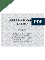 APRESIASI KARYA SASTRA