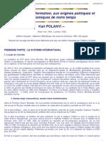 La Grande Transformation - Polanyi