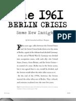 1961 Berlin Crisis - Prologue Fall 2011