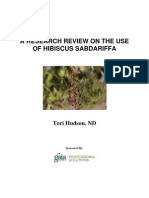 A Research Review on the Use of Hibiscus Sabdariffa