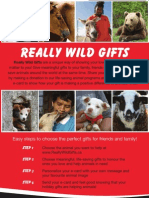 WSPA Really Wild Gifts Catalogue 2011