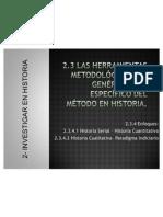 62845036.Las herramientas metodológicas_ lo genérico y lo específico del método en Historia_ cuanti y cuali 2011