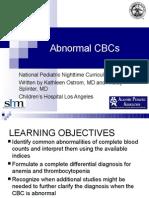 Abnormal CBC - Presentation