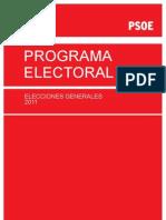 Programa Electoral PSOE Elecciones Generales 2011