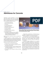 Admixtures for Concrete