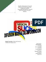 Difusion Masiva de ion y Su Regulacion Juridica
