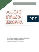 Búsqueda de información bibliográfica