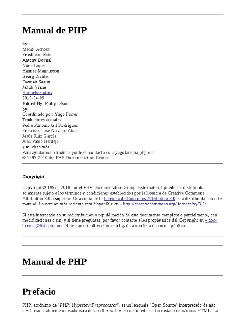 Manual Oficial de PHP5 | Php | Web Server