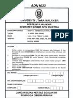ADN1033-Kenegaraan Malaysia Smester Ke2