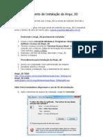 Procedimento de Instalação Arqui_3D 2000x10