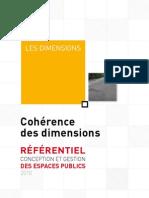 Dimensions-cohérence des dimensions