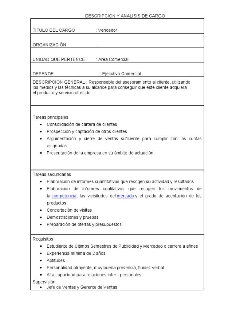 Fantástico Plantilla De Descripción De Trabajo Ejecutivo Componente ...
