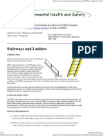 OSHA Stairways & Ladder Safety