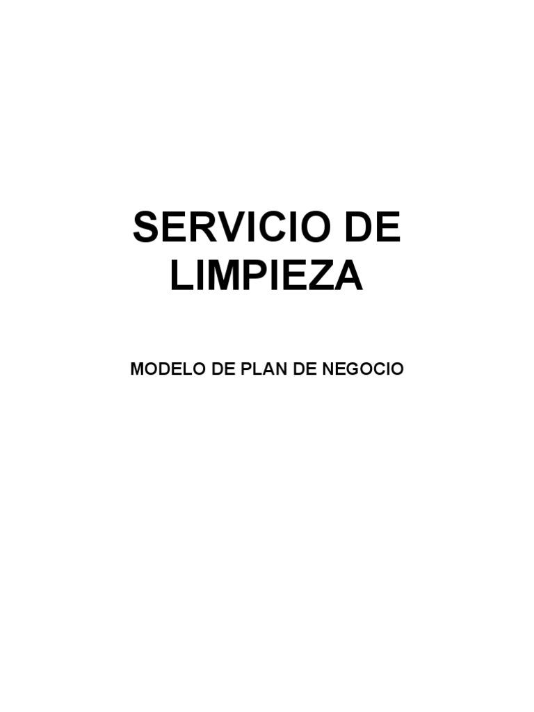 Modelo de Plan de Negocio - Servicio de Limpieza - Act