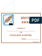 Award Writing