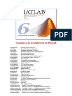 Funciones Biblioteca MatLab