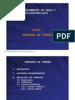 CLASE 1 PERIODO DE DISEÑO sin deficit