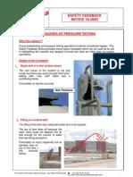 Pressure Testing Safety