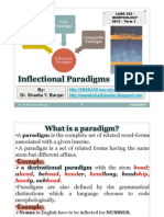 Inflectional Paradigms - Morphology- Dr. Shadia Yousef Banjar