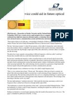 2011 10 Microring Device Aid Future Optical