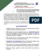 Edital 01 Gmatft Manual Do Candidato